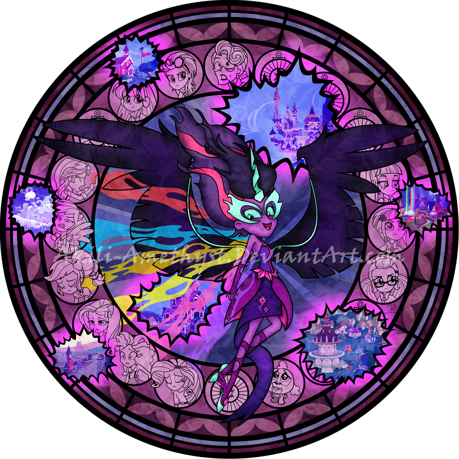 Stained Glass: Midnight Sparkle by Akili-Amethyst