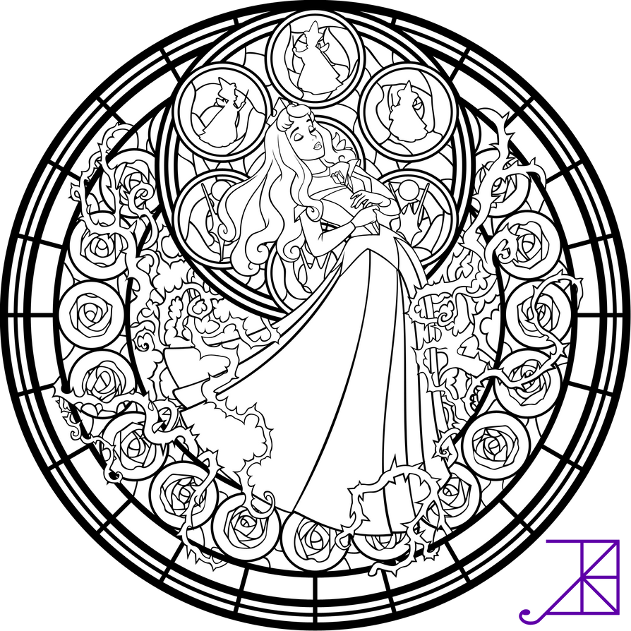 complex stained glass coloring pages - photo#10