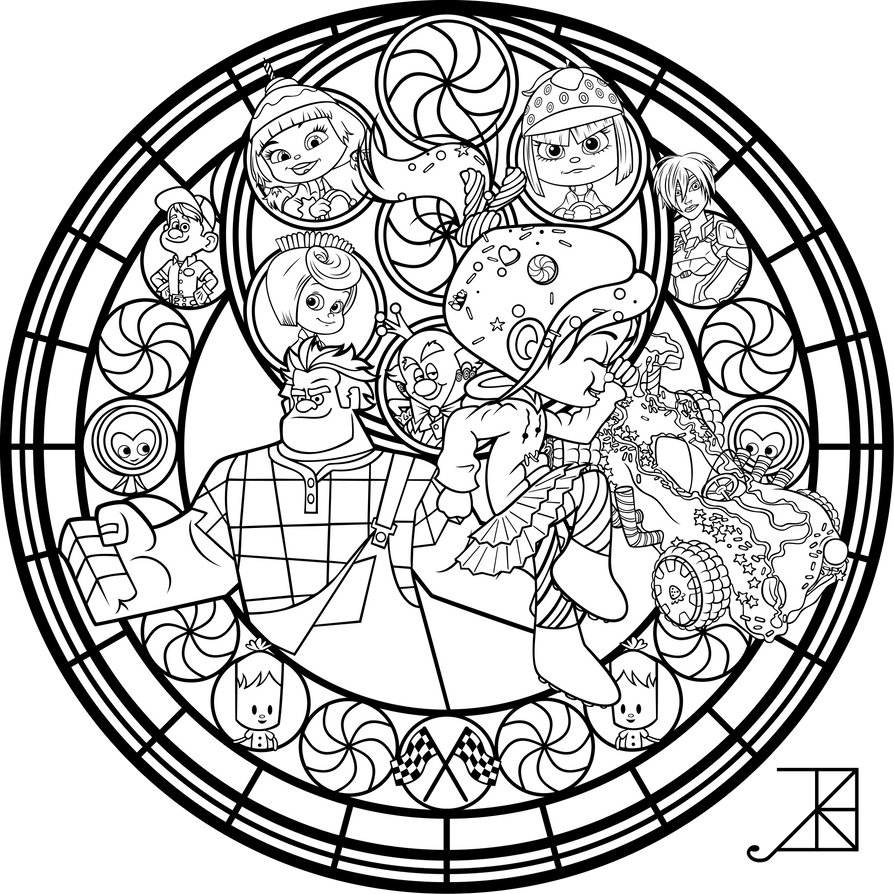 Vanellope Stained Glass Line Art By Akili Amethyst On DeviantArt