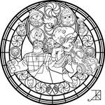 Vanellope Stained Glass -line art-