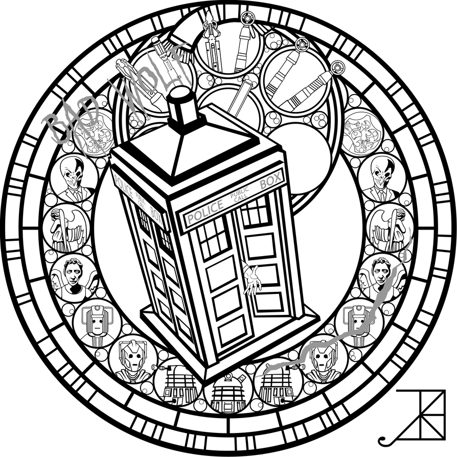 Line Drawing Of A Doctor : Tardis line art imgkid the image kid has it