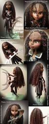 OOAK Klingon Warrior Doll by Akili-Amethyst