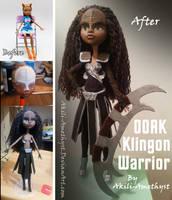 OOAK Klingon Doll -Progression- by Akili-Amethyst