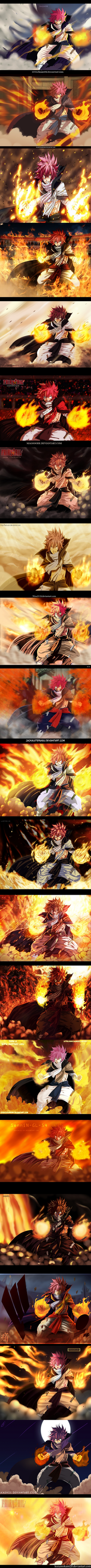 Fairy Tail 418 1 Year time-skip Natsu by Grimm6Jack