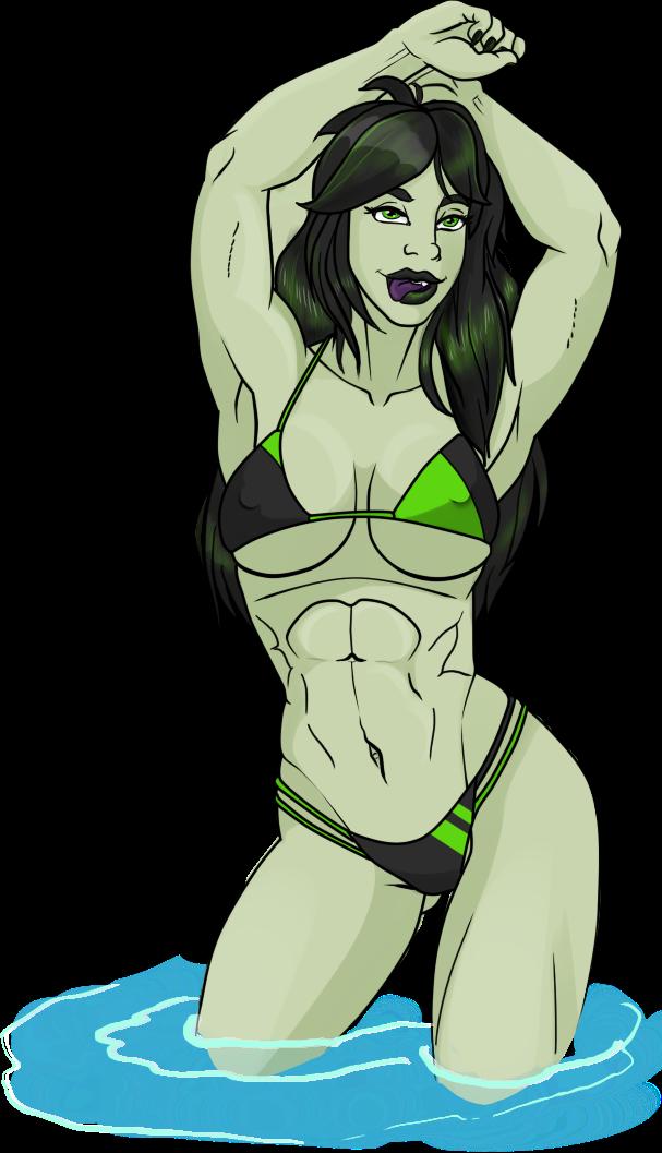 Shego in a bikini by NormanSanzo on DeviantArt