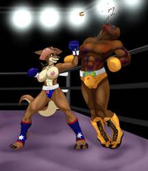 COMMISSION - Aussie vs The Champ by VeXeDZERO