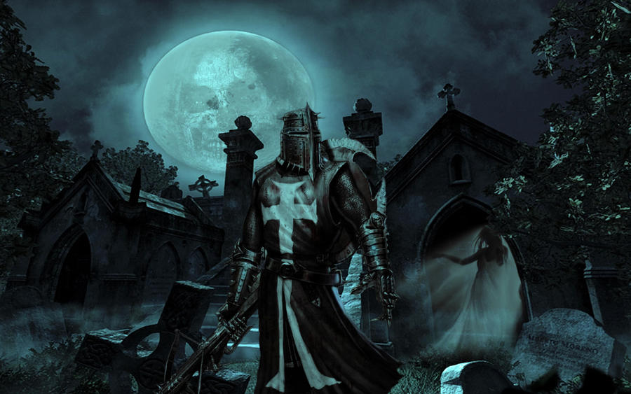 Dark Crusader - Mistress of the Night by michello1976Christian Crusaders Wallpaper