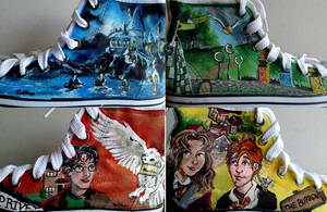 Harry Potter Painted shoes by YoSafBridge
