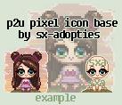 sx-adopties Sitting Pixel Icon Base by sx-adopties