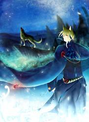 Moon wolf by mizato