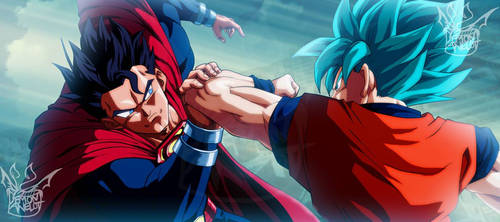 Superman vs. Son Goku by EverlastingDarkness5