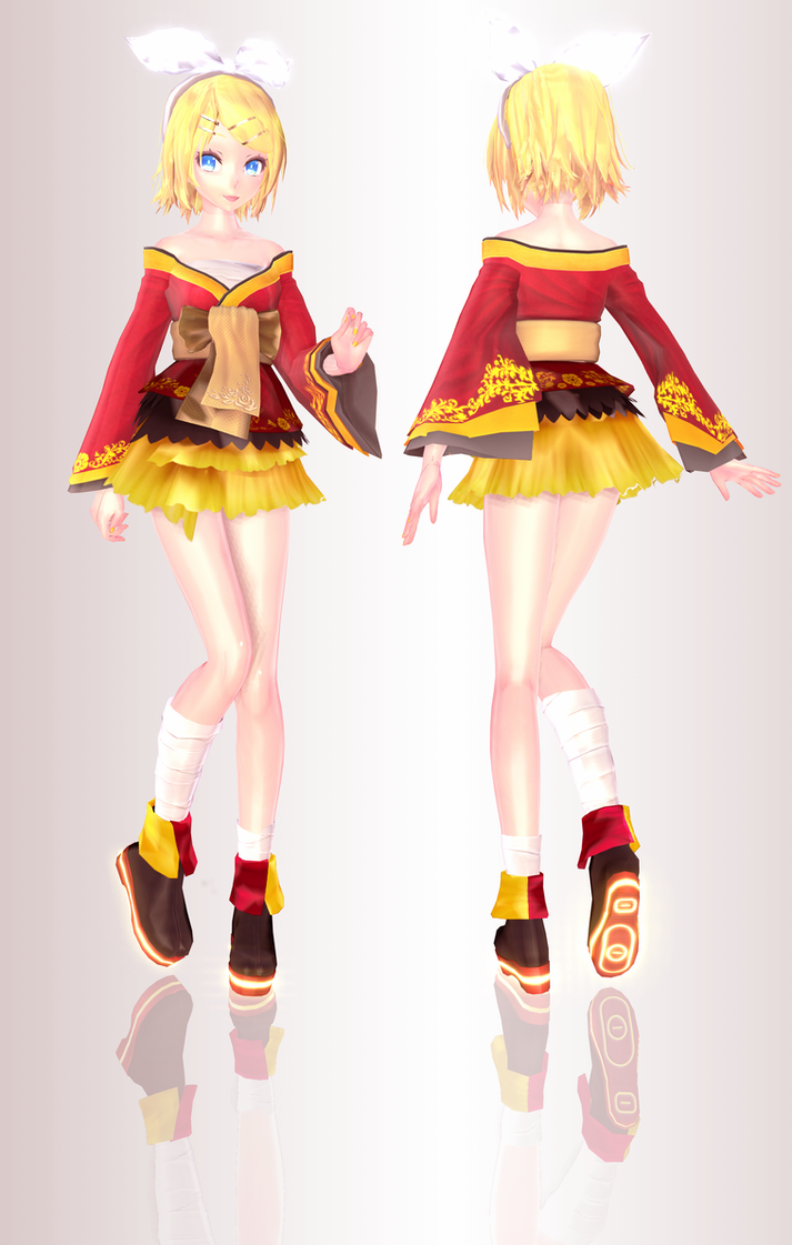 MMD TDA Kagamine Rin Iroha Uta Concert Outfit by ...