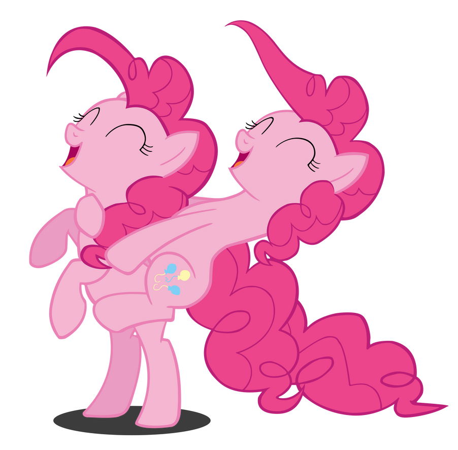 Pinkie Pie Riding Pinkie Pie! Vector by Camsy34