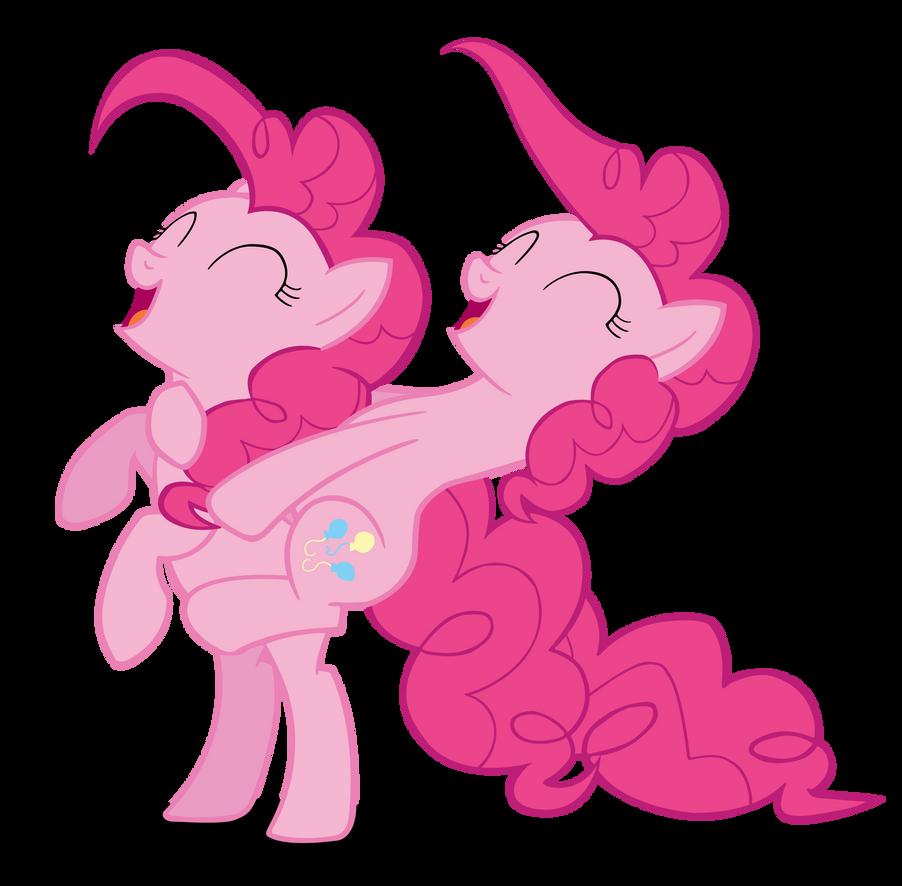 Pinkie Pie Riding Pinkie Pie! Vector by Camsy34