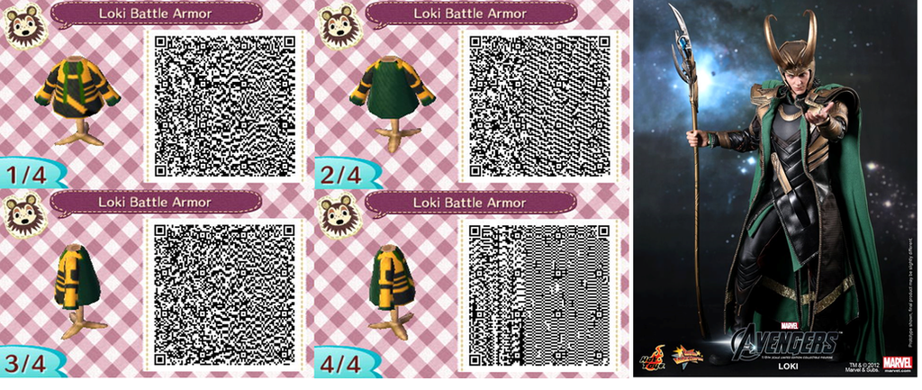 Loki Battle Armor QR Codes Animal Crossing by ...