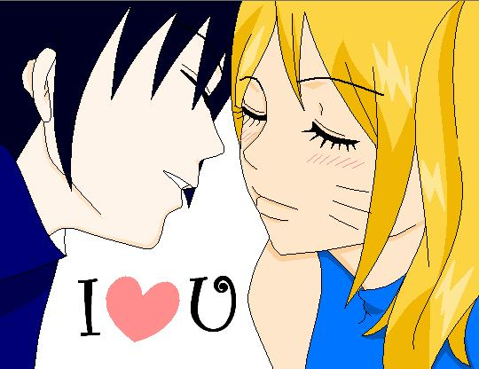 'I Heart You' by DienushLav by Sasuke-X-Naruko