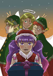 Violet Christmas by emmav