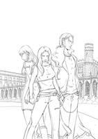 Vampire Academy cover inks by emmav