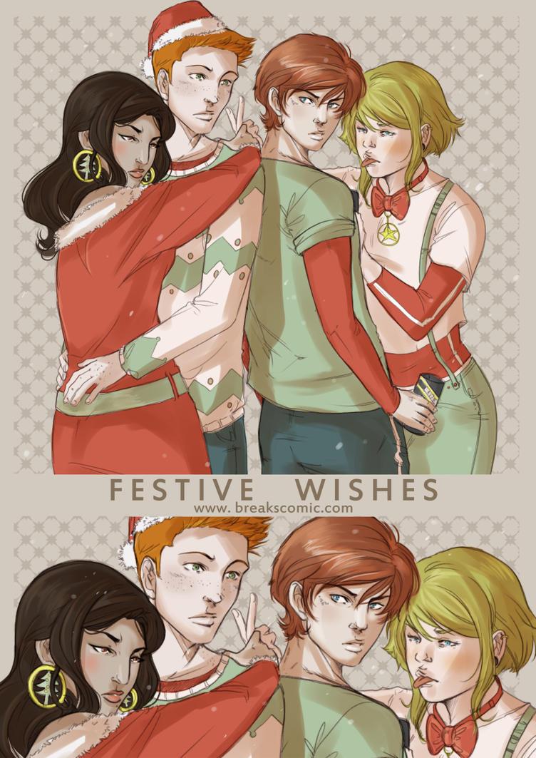 Festive wishes, Deviantart ^_^ by emmav