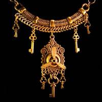 Tribal Steampunk Key Necklace by Om-Society