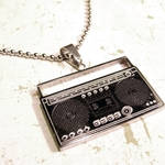 Ghetto Blaster Stereo Necklace