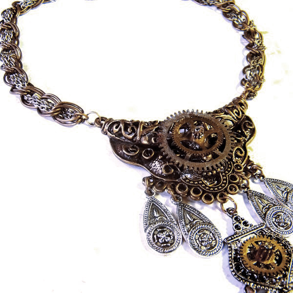 Industrial Gypsy Gear Necklace by Om-Society