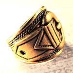 Steampunk Brass Buckle Ring