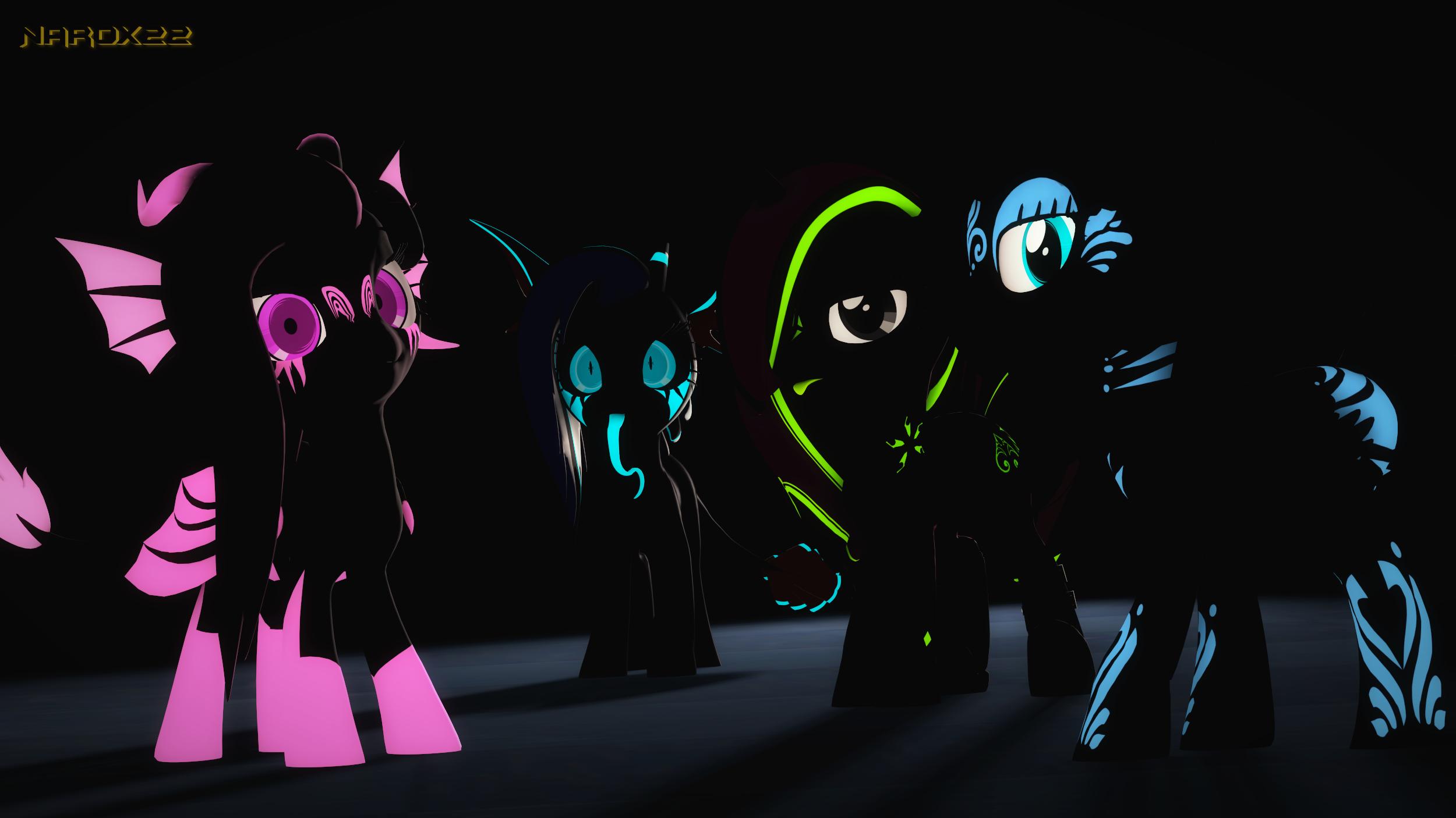 Glowy Pones by Narox22 on DeviantArt