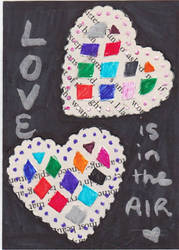 Love is in the Air - Artist Trading Card by ScribbledMissives