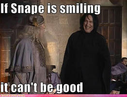 Snape is smiling by Iloveremus
