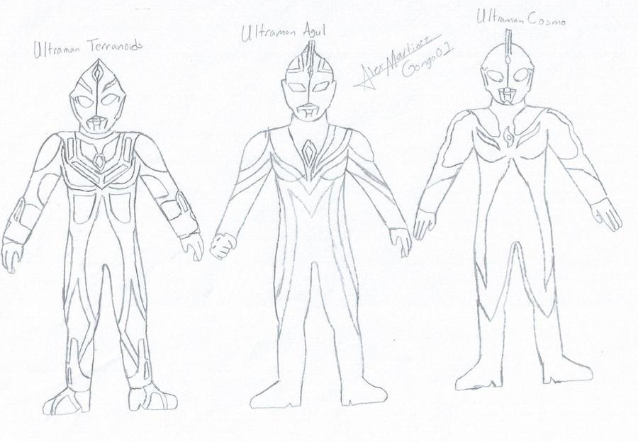 Ultraman Cosmos Corona Mode Ultramans 7 by Gonga01