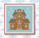 Cross Stitch Pattern Gingerbread House Cart PDF