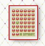 Mario Mushroom Gaming Cross Stitch Pattern by HandStitchDesign