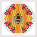 Bee and Flowers Cross Stitch Pattern by HandStitchDesign