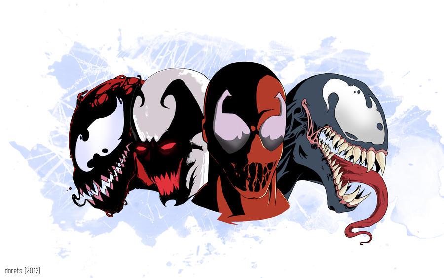 spiderman vs venom vs carnage vs anti venom vs toxin 4353 loadtve
