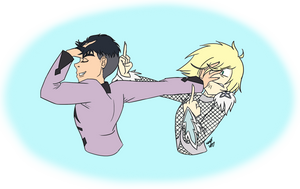 Yurio and JJ: 'Fuck You!' by Were-Wolf-Hell