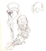 Steampunk- cyborg arm by morrigun