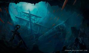 Underwater Sunken Ship Environment