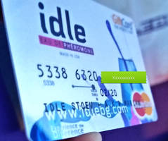 Credit card design - idle - Printed out 2 by idlebg