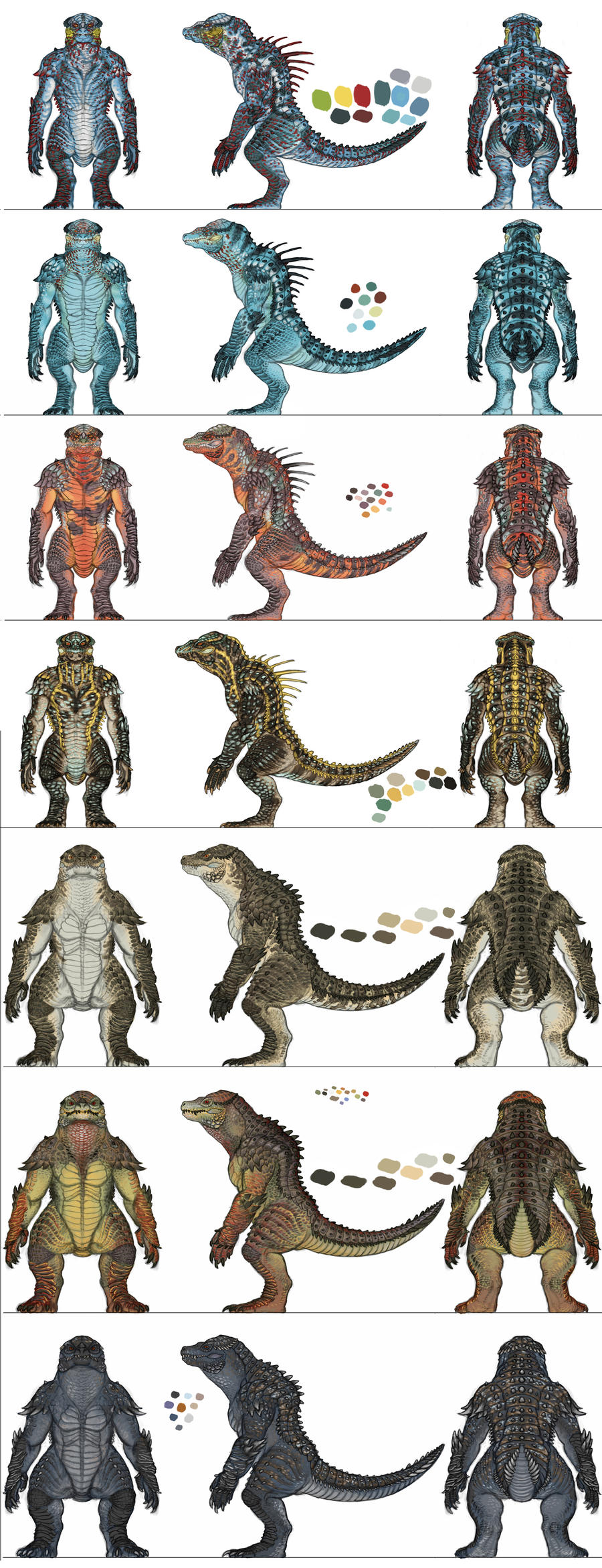Reptilian Design: Turnarounds by DSil