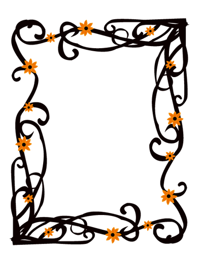 Elegant Floral Frame Border Vector by AngelaDesigns on ...