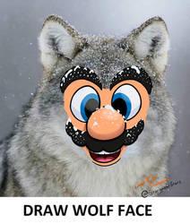 Draw Wolf Face - Meme