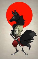 Nigiri the four tailed Kitsune by Ryanmaster