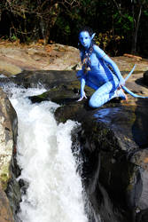 neytiri cosplay waterfall by Official-AmyFantasy