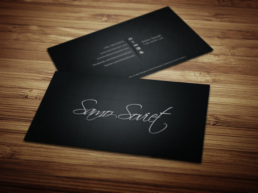 My Personal Business Card Design | Printed by SamoSoviet on DeviantArt