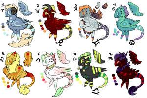 Zodiac kotoki [CLOSED] by Hatonni