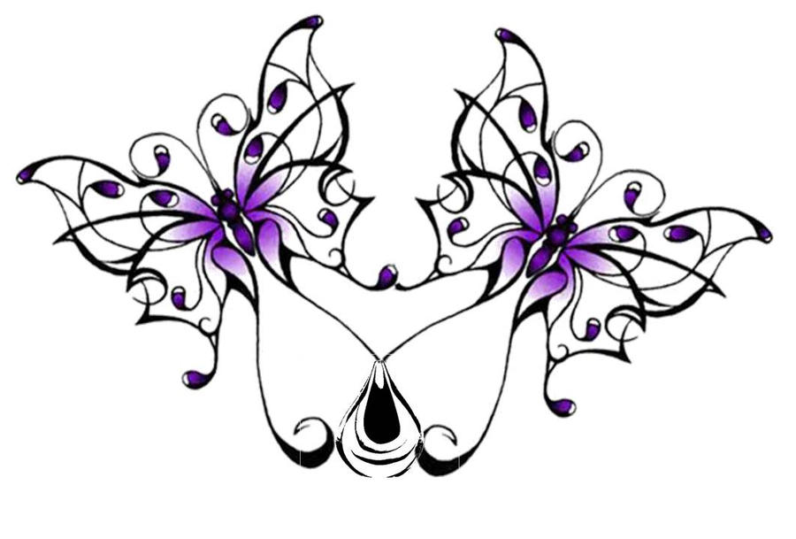 double butterfly tattoo by sweepeezee on deviantart. Black Bedroom Furniture Sets. Home Design Ideas