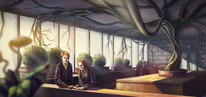 Herbology class by Nisato