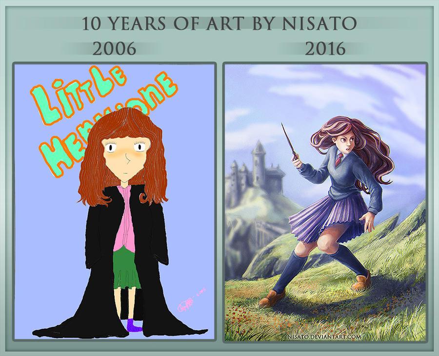 Progress meme: 2006-2016 by Nisato