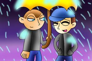 under the umbrella by Creamtherabbitfan